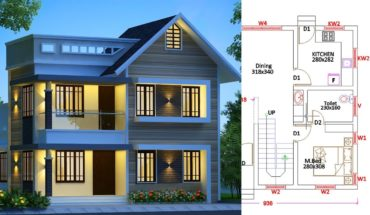 1345 sq ft 4 bedroom low budget two floor modern beautiful house and plan
