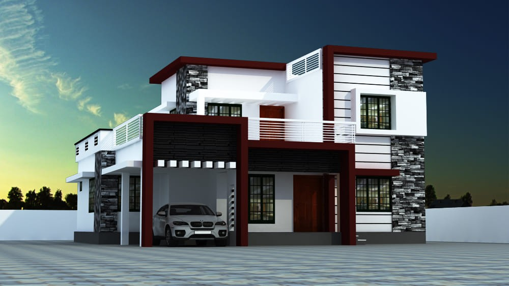 1670 sq ft 3 bedroom contemporary style modern beautiful house and plan