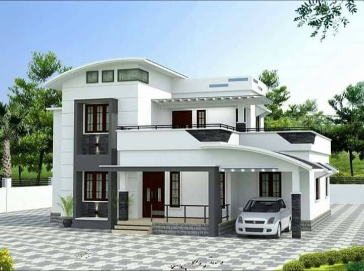 2000 sq ft 4 bedroom 4 bedroom modern contemporary style two floor house and plan