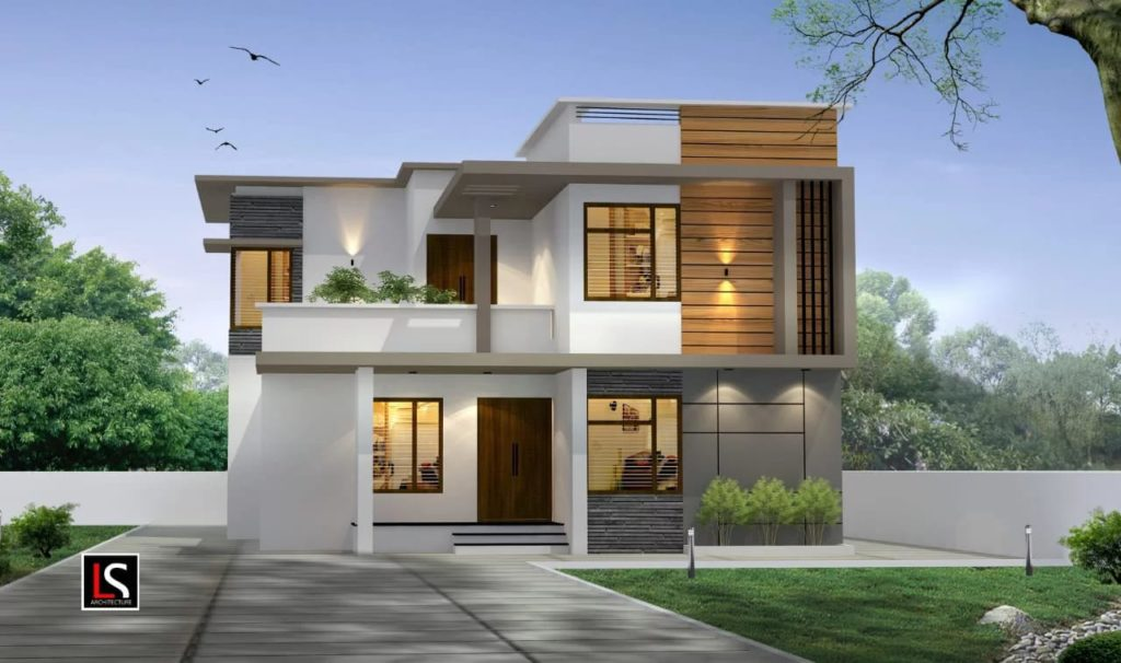 2056 sq ft 4 bedroom contemporary style amazing home and plan