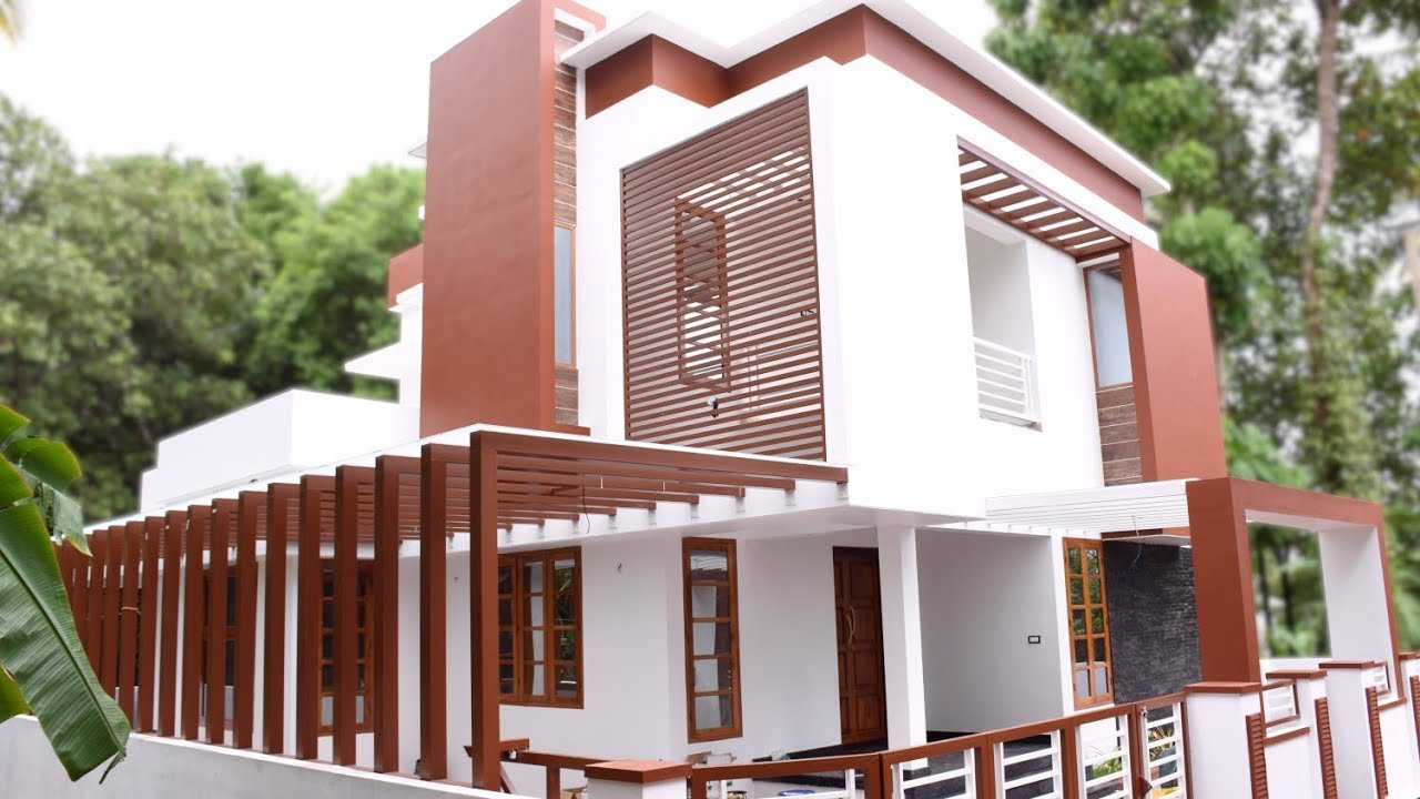 2077 sq ft 3 bedroom contemporary style modern beautiful house at 5 cent plot