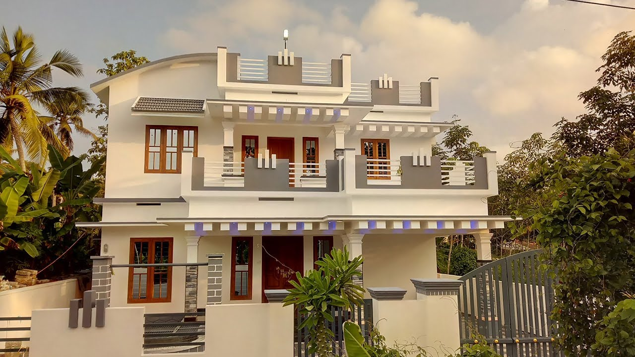 2100 sq ft 4 bedroom mixed roof modern two floor beautiful house