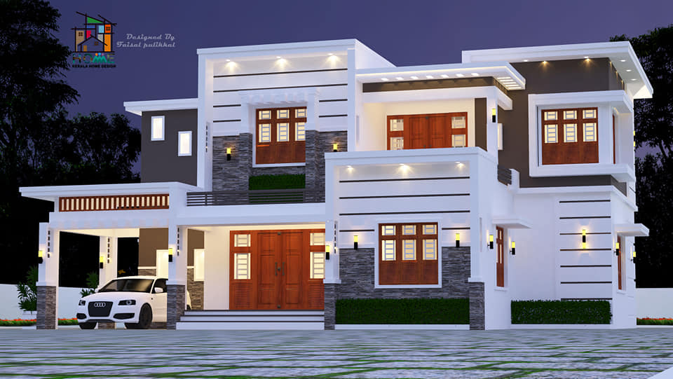 2150 sq ft 4 bedroom contemporary style two floor wonderful home design