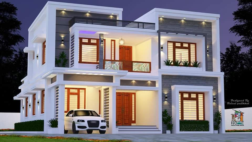 2300 sq ft 4 bedroom modern contemporary style two floor beautiful home