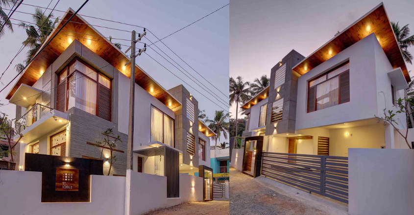 3000 sq ft 4 bedroom modern contemporary style house at 4.75 cent plot
