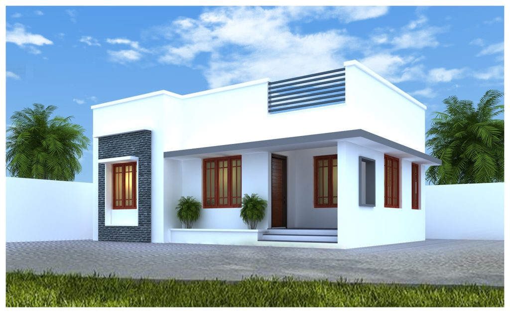 650 sq ft 2 bedroom single floor low budget beautiful house and plan