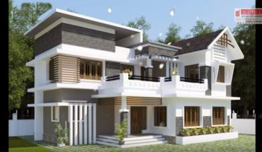 2260 sq ft 4 bedroom contemporary mix style modern two floor house and plan