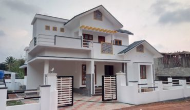 1700 sq ft 3 bedroom two floor kerala style beautiful house at 6.75 cent plot