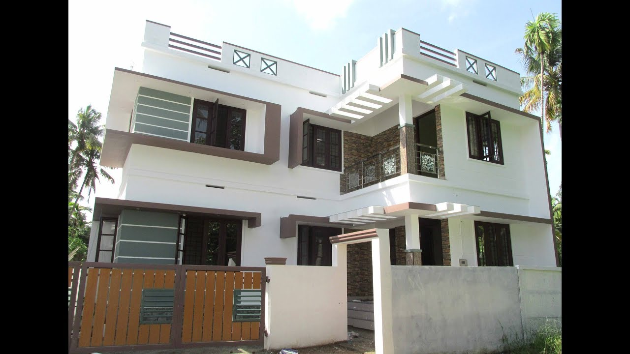 1350 sq ft 3 bhk contemporary style two floor house at 3 cent plot