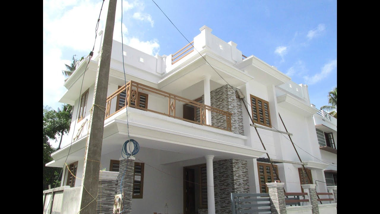 1400 sq ft 3 bedroom flat roof modern two floor house at 3 cent plot