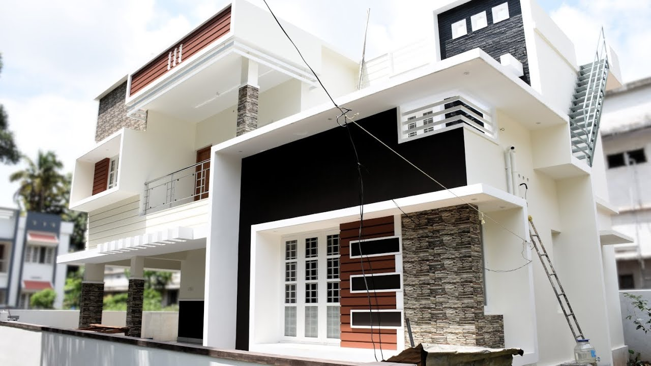 1720 sq ft 3 bedroom contemporary style two floor modern house at 4.3 cent plot