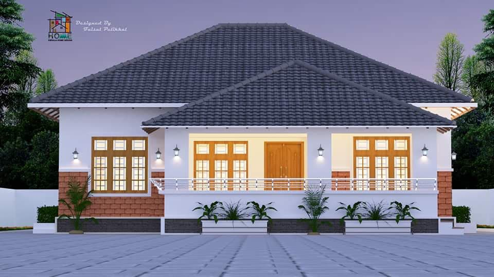 1072 sq ft 3 bedroom traditional style single floor beautiful house and plan