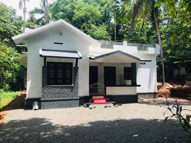 1060 sq ft 2 bedroom single floor low budget simple model house and plan