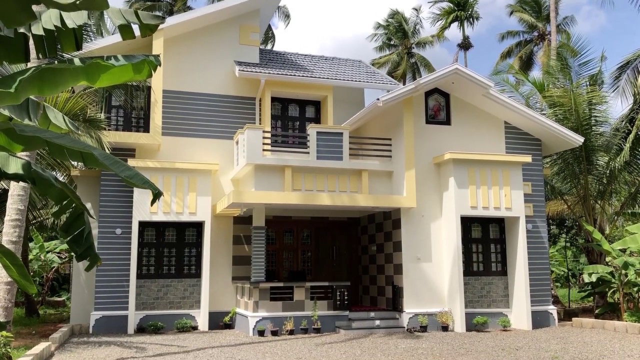 1500 sq ft 3 bedroom new style two floor modern and beautiful house
