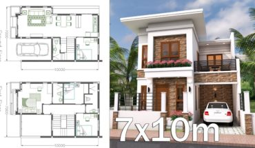 1500 sq ft 4 bedroom contemporary style two floor house and plan