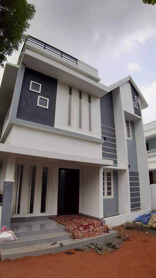 1520 sq ft 3 bedroom contemporary style two floor modern house and plan