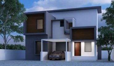1591 square feet 4 bedroom contemporary style double floor modern house and plan