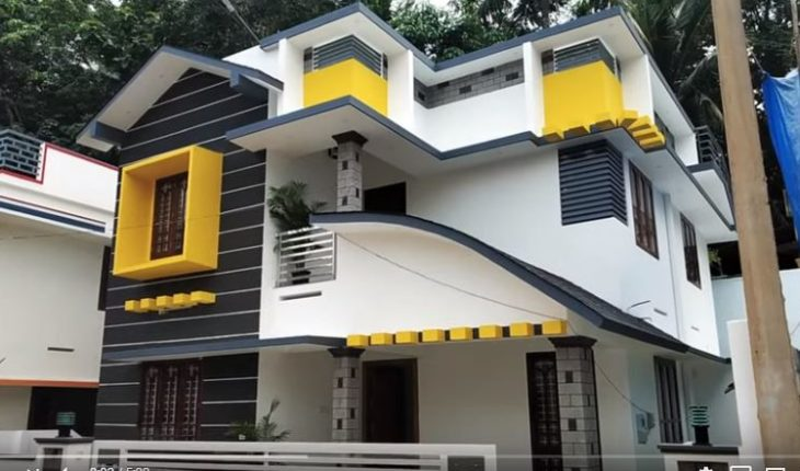1700 square feet 3 BHK modern two floor a perfect middle budget house at 4 cent plot