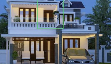 1930 square feet 4 bedroom fusion style mix roof modern beautiful house and plan