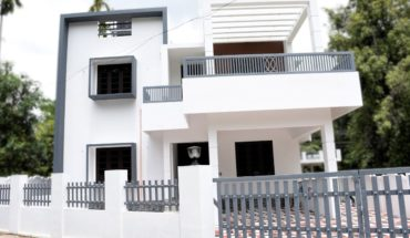 2050 square feet 4 bedroom contemporary modern house at 5 cent plot