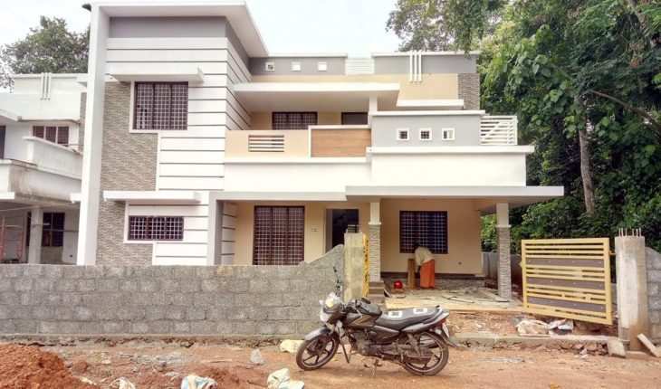 2550 square feet 5 bedroom contemporary duplex modern house at 7 cent plot