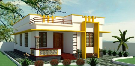700 Square Feet 2 Bedroom Simple and Elegant Style House and Plan