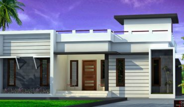 900 Square Feet 2 Bedroom Contemporary Style Single Floor House and Plan