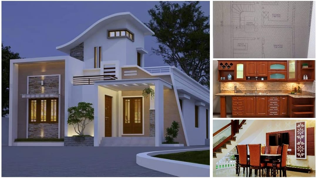 1200 Square Feet 2 Bedroom Single Floor Modern Beautiful house and Plan