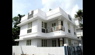 1400 Square Feet 3 BHK Contemporary Style Flat Roof Two Floor House at 3.5 Cent Plot