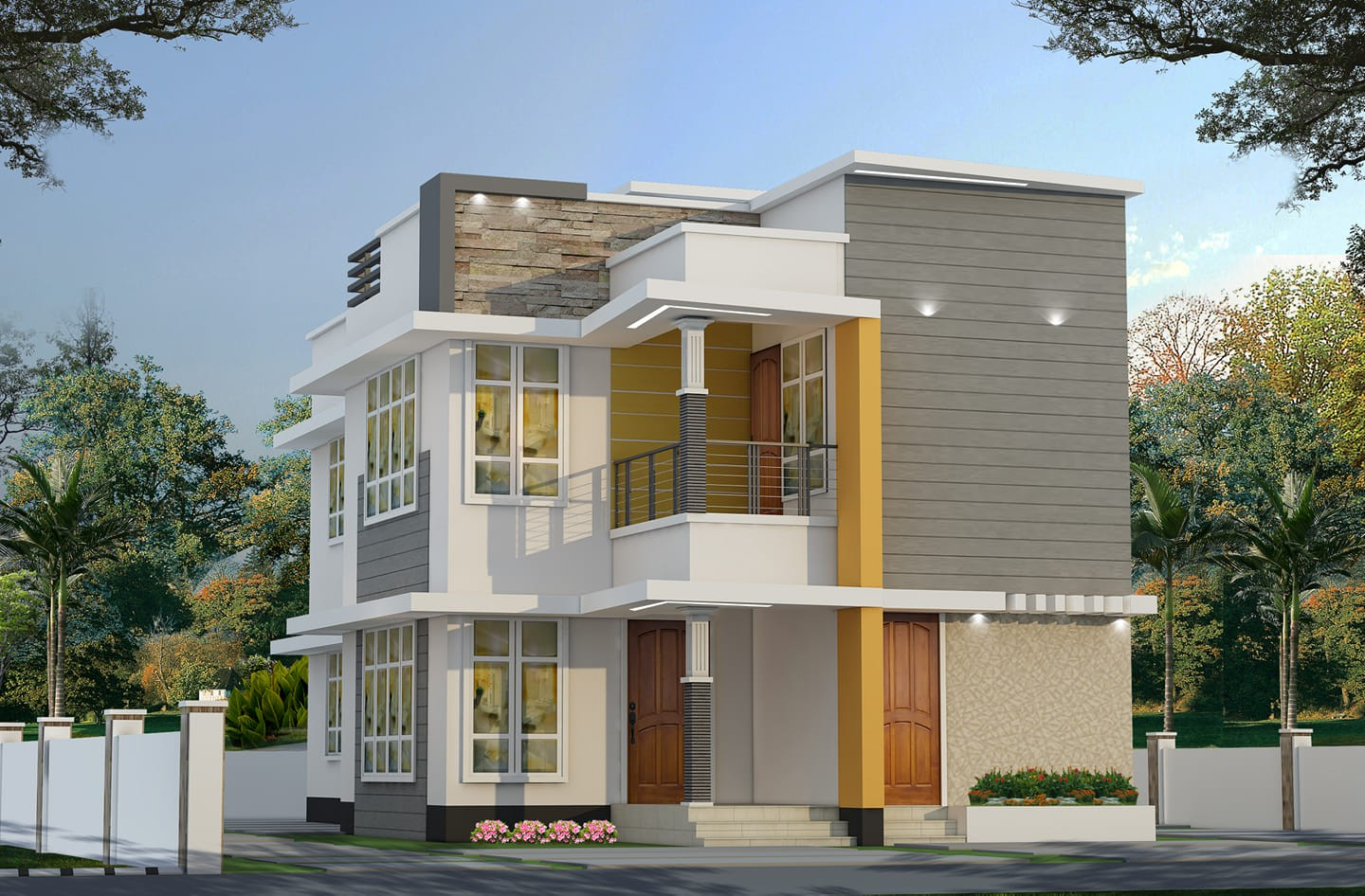 Photo of 2000 Square Feet 3 Bedroom Modern Contemporary Style House and Plan