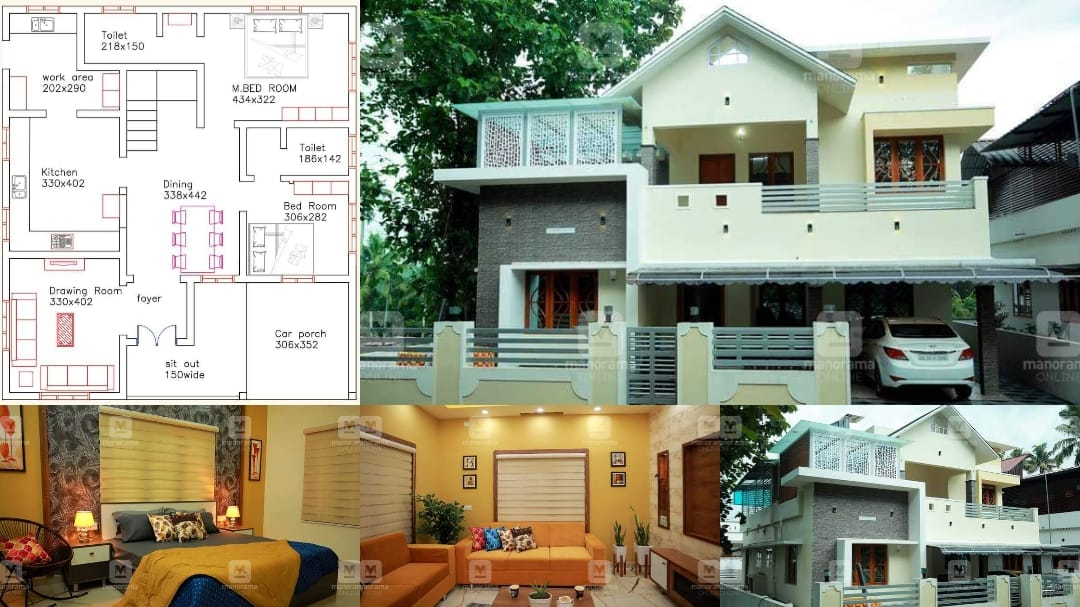 2360 Square Feet 4 Bedroom Modern Two Floor Beautiful House and Plan