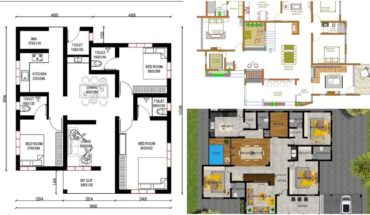 3 Bedroom 1000 to 2000 Square Feet Single Floor Low Cost Plans