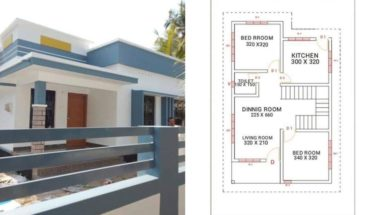 800 Square Feet 2 Bedroom Single Floor 15 Lack Beautiful House and Plan