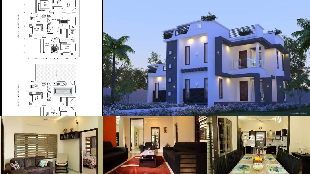 1932 Square Feet 5 Bedroom Double Floor Modern Home and Plan