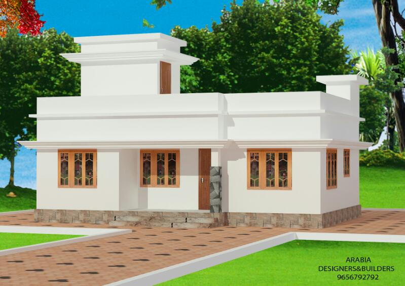 696 Square Feet 2 Bedroom Low Budget Beautiful Small Home Design and Plan