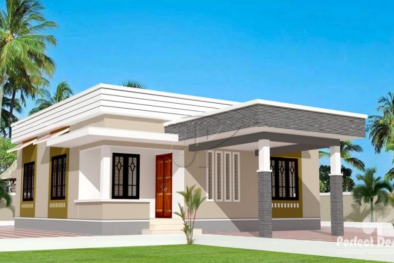 829 Square Feet 2 Bedroom Single Floor Low Cost Home ...