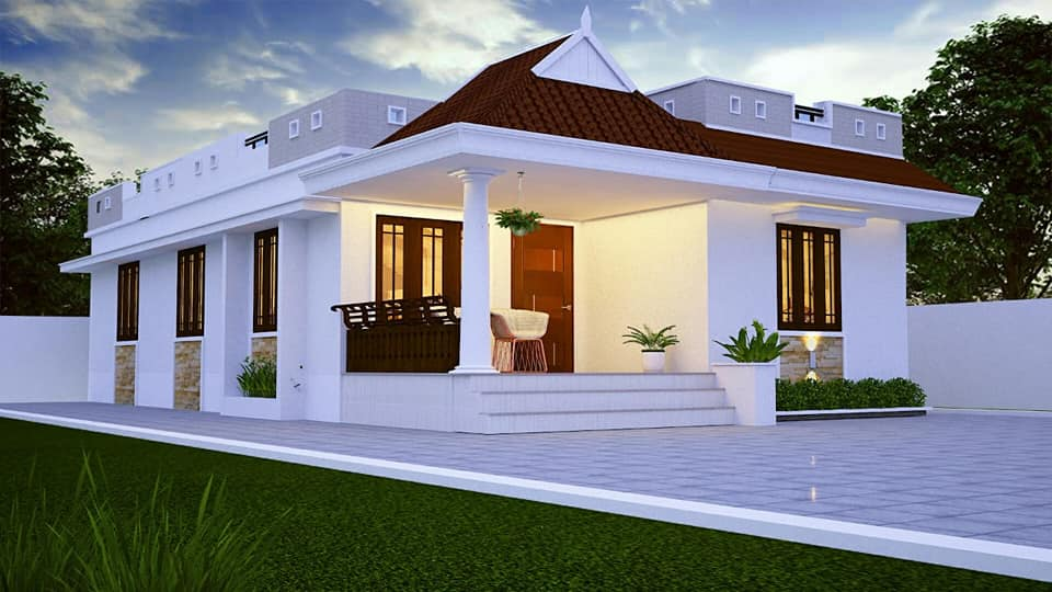 733 Square Feet 2 Bedroom Single Floor Low Budget Cute and ...